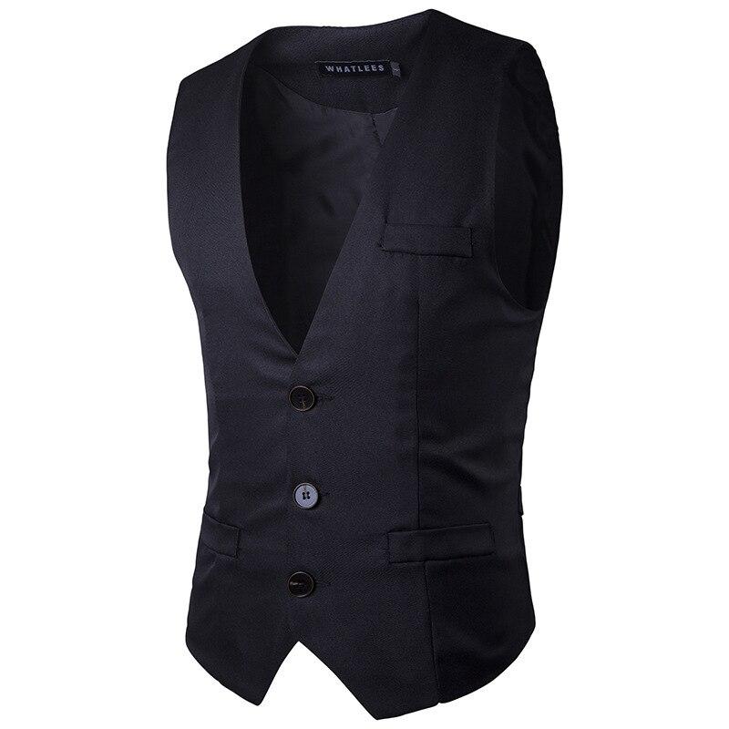 Men's Clothing Vests Mens Double Breasted Vest Men Dress Suit Vest Men Formal Grey Vest Suit Gilet Vest Slim Business Jacket Tops Homme Spring M51