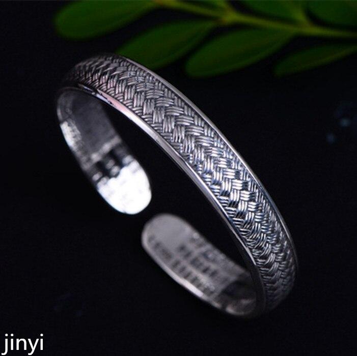 KJJEAXCMY Boutique di gioielli in argento S999 intrecciato spago vecchi amanti braccialetto con aperture regolabili per braccialetto dargento.KJJEAXCMY Boutique di gioielli in argento S999 intrecciato spago vecchi amanti braccialetto con aperture regolabili per braccialetto dargento.