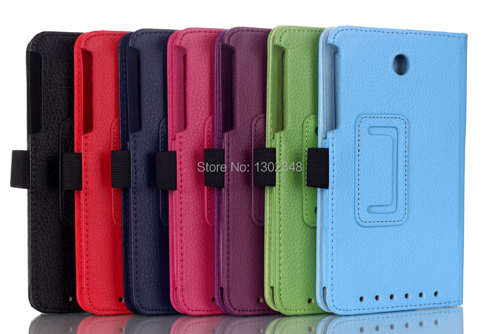 High Quality Utra Slim Litchi Grain Folio Stand PU Leather Skin Cover Tablet Case For Asus MeMO Pad 7 ME176 ME176C ME176CX K013