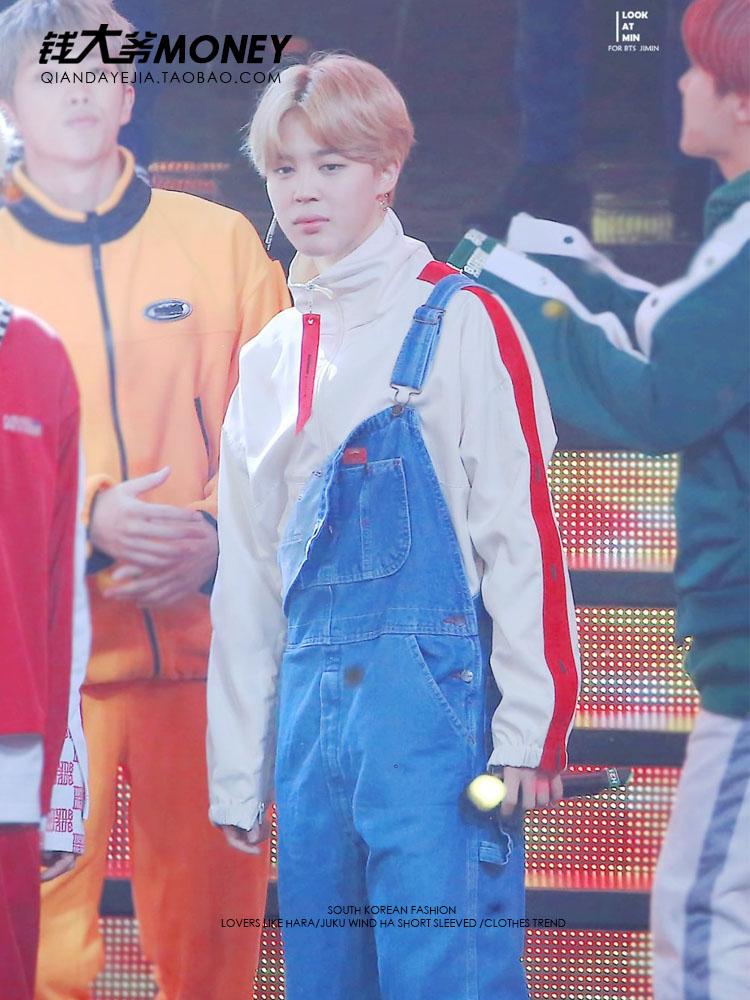 kpop BTS Bangtan Boys same paragraph surrounding members of the fashion trends optional Korean students loose blouses Sweatshirt