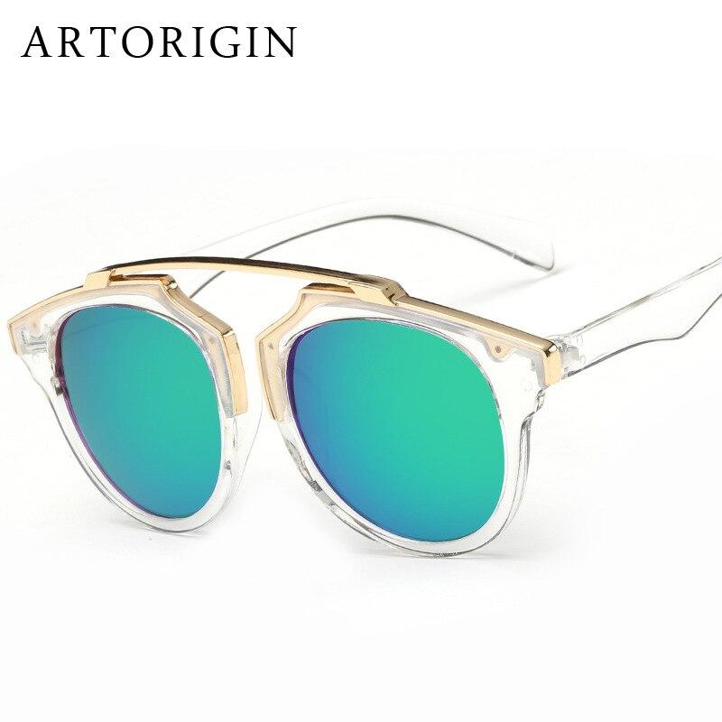 FashionBrand Designer Mulheres Óculos De Sol Redondos Qualidade Olho de Gato  Lente Espelho Óculos de Sol Feminino Oculos de sol Feminino em Óculos de sol  de ... 1a0b637f11