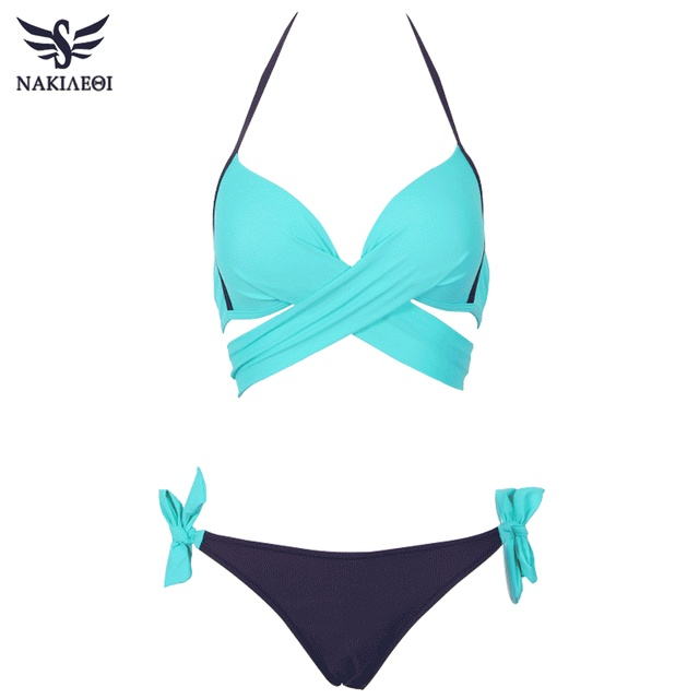 Cross Bandage Halter Bikini Set 10
