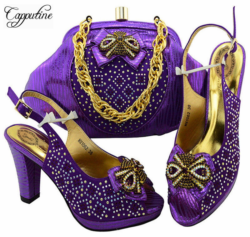 Capputine Latest African Shoes And Bag Set For Party Italian Fashion Women Sandal With Matching Bags Set Size 38-43 MM10623 защитное стекло для samsung galaxy a3 2016 sm a310f onext на весь экран с белой рамкой