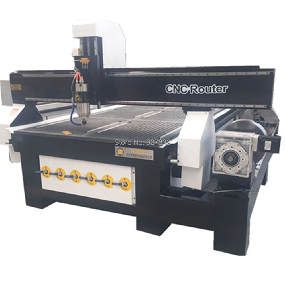 Multi Function 4 Axis 1325 Cnc Router With Rotary 3d Cnc Wood Milling Machine 4x8 Ft Mach3 Cnc Woodworking Machine
