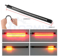Flexible Dual Color 32 LED Motorcycle Motorbike Turn Signal Tail Brake Stop License Plate Light Integrated