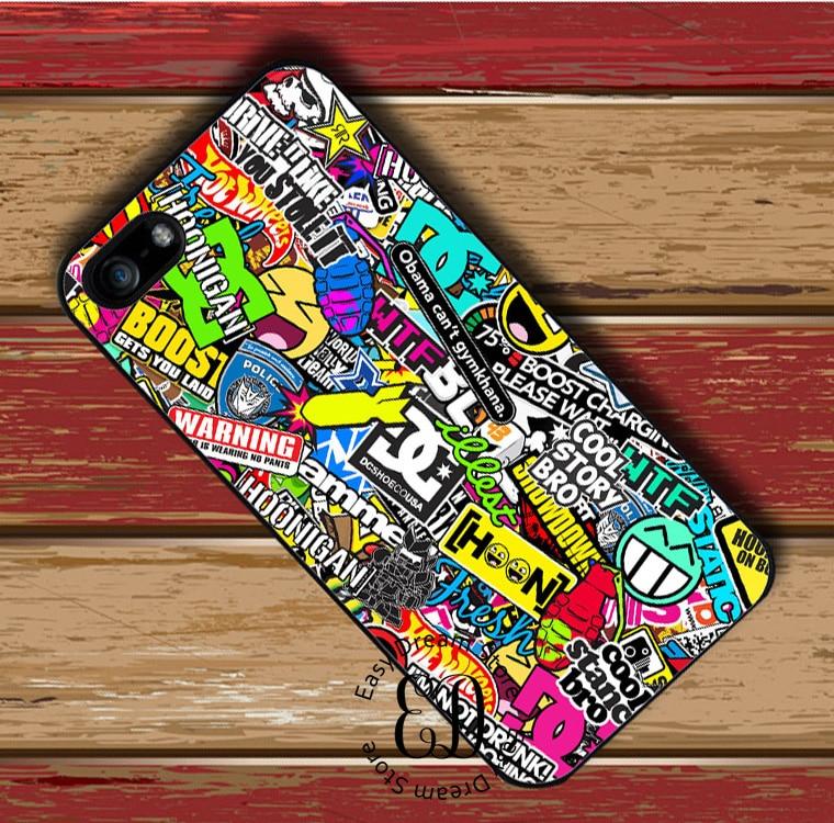 Motocross MX Sticker Bomb case for iphone X XR XS Max 4s 5 5s SE 6 6s 7 8 plus Samsung j7 s5 s6