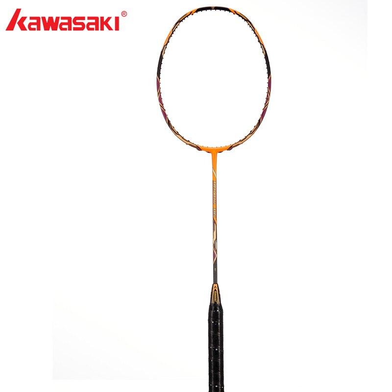 Kawasaki Badminton Rackets Honor H6 Offensive Type 30T High Modulus Graphite Racquet 3 Stars For Amateur Intermediate Players kawasaki original badminton racket offensive type 18 30lbs graphite fiber badminton racquet for junior players firefox 570 sd