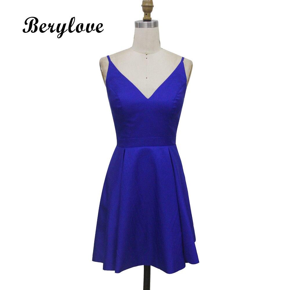 BeryLove Simple Burgundy Short Homecoming Dresses 2018 Mini Satin Homecoming  Dress Plus Size Homecoming Gowns Cocktail Dresses-in Homecoming Dresses  from ... 568f798d6b31