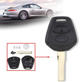 For Porsche 911 996 Boxster S 986 3 Buttons Car Remote Fob Key Case Shell With Battery Replacement image