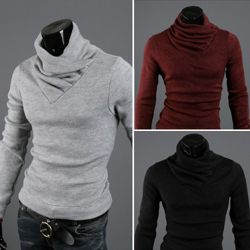 Freeshipping Jacket Collision Color Brand Men s Sweater Hedging Slim MenTurtleneck Pull Homme Cotton Maglione Uomo