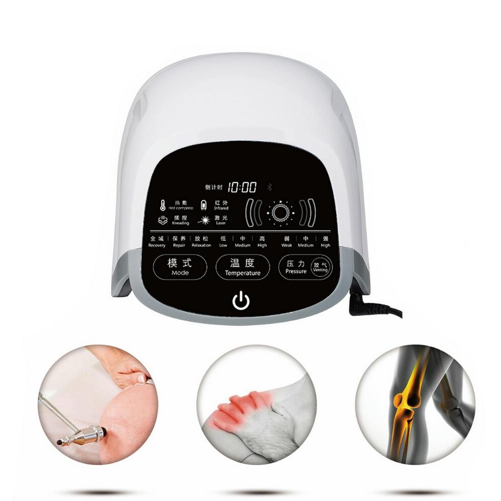 Meilleure vente ultrasons soulagement de la douleur genou articulation soulagement de la douleur masseur 808nm laser infrarouge lointain lumière air pression thérapie dispositif