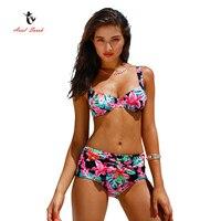 2017 Ariel Sarah Brand New High Waist Bikini Sexy Push Up Bikini Women Printing Swimwear Bikinis