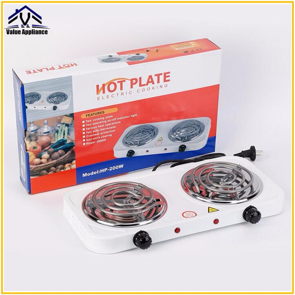 Double Heater Electric Stove Hot Plate Cooking Plate Multifunction Coffee Tea Heater Home Appliance Hot Plates for Kitchen
