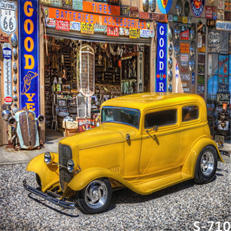Yellow Car Shop Store on the Street Photography Backdrops Newborn ...