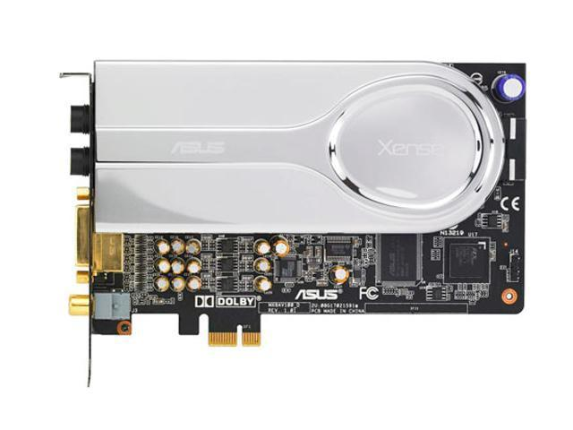 Used,ASUS XONAR XENSE 7.1 Channels 16/24bit 44.1K/48K/96K/192KHz PCI Express X1 Interface Sound Card,100% Tested Good