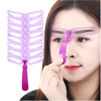 8 Kinds Reusable Eyebrow Stencil eyebrow ruler Cosmetics Eye Brow shape Mold Styling Shaping Template Card Makeup Beauty Kit