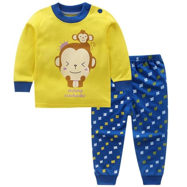 rivenditore all'ingrosso a1ec4 380b9 US $5.67 48% di SCONTO|Ragazzi vestito di pista abbigliamento pigiami per  bambini dormono insieme giacca invernale camicia da notte baby boy set di  ...