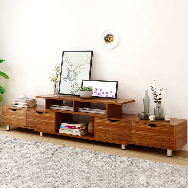 Гостиная деревянная тумба для телевизора твердый деревянный шкаф для хранения современный чайный столик Модная отделка под дерево растяги