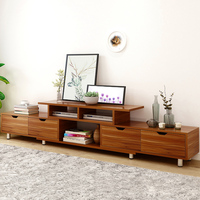 Living room wooden TV cabinet Solid Wood Storage Cabinet modern Tea table fashion wood grain stretchable Chinese style