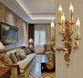 Винтажная настенная лампа  классическая свеча  настенные бра  светильник для спальни  роскошный настенный светильник для отеля  виллы  спал...