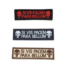 Punisher iskelet SI VIS PACEM barış giyim taktik sırt çantası rozeti sihirli işlemeli kol bandı 2.6*9.5cm