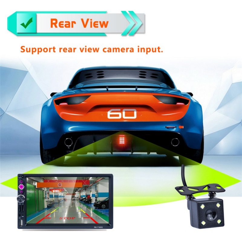 Image 5 - Car MP3 MP4  Player Full IR Remote Control Car FM Transmitter GPS Navigation System Steering Wheel Rear View Camera Vehicle Play-in Car Monitors from Automobiles & Motorcycles