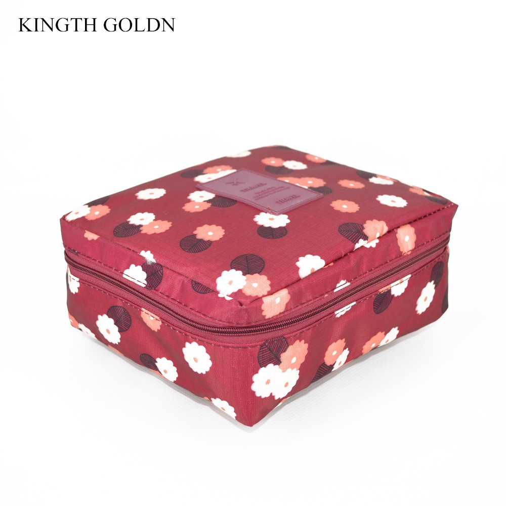 KINGTH GOLDN Women Waterproof Storage Bag Organization Travel Cosmetic Bags Make up Ladi ...