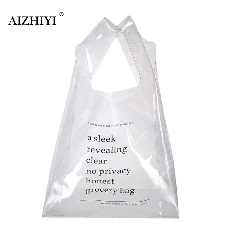 Fashion Simple PVC Handbags Transparent Clutch Purse for Girls Clear Handbag Bag Shopping Purse Beach Casual Designer Bags