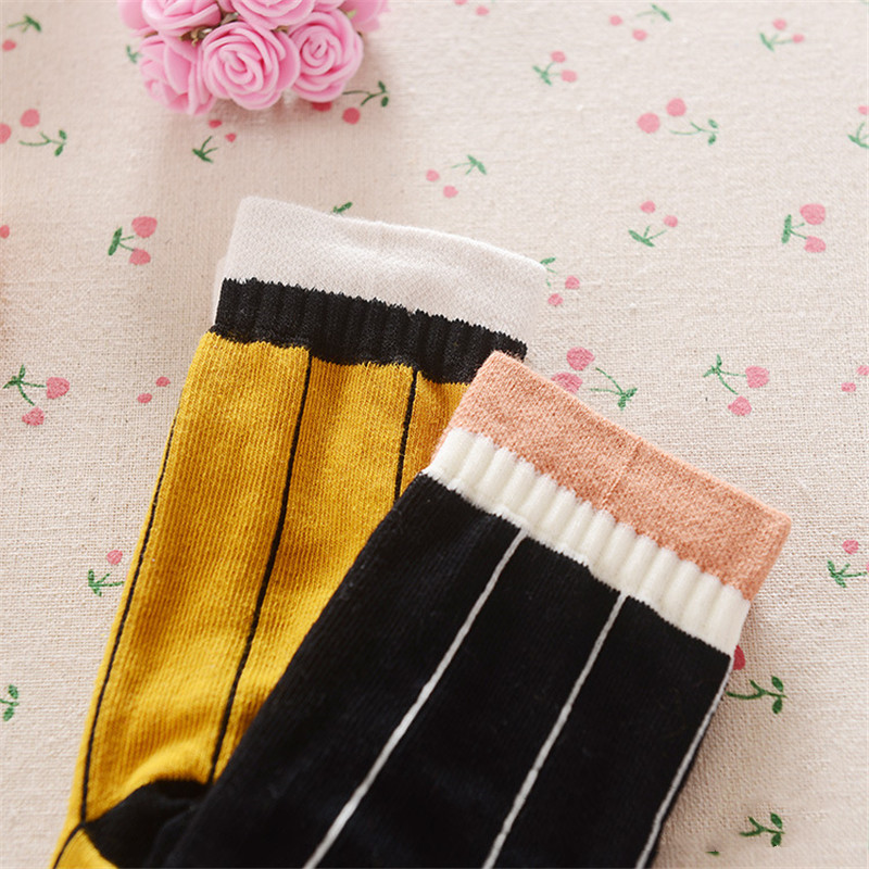 0-3 Years Baby Socks Children Anklets Short Sock Baby Boy Bobbysock Vertical Stripes Newborn Socks Girls Sox Half-Sock Cotton 8