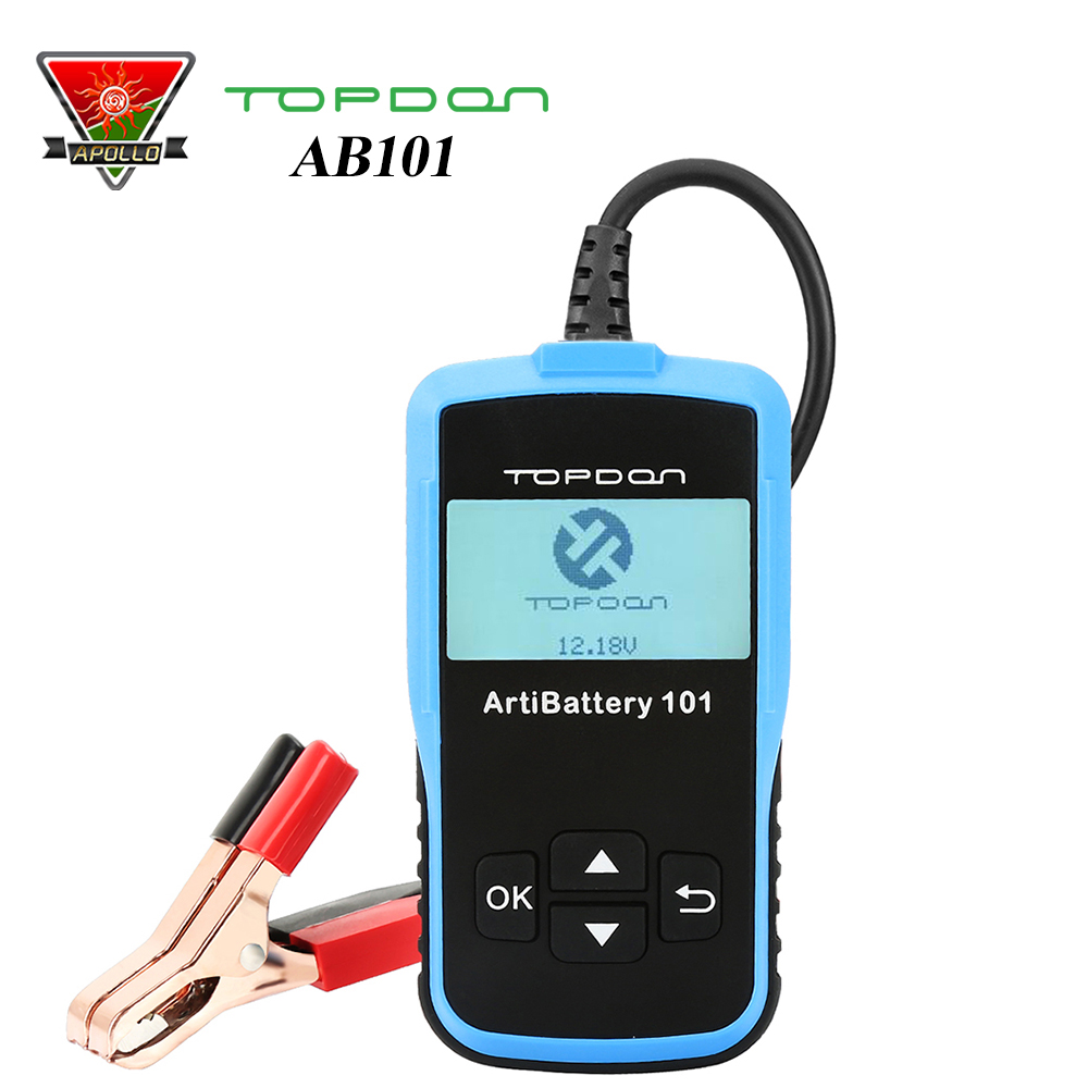 Car Battery Tester Topdon ArtiBattery 101 Battery Tester Analyzer 12V 100 2000 CCA Automotive Analyzer Cranking