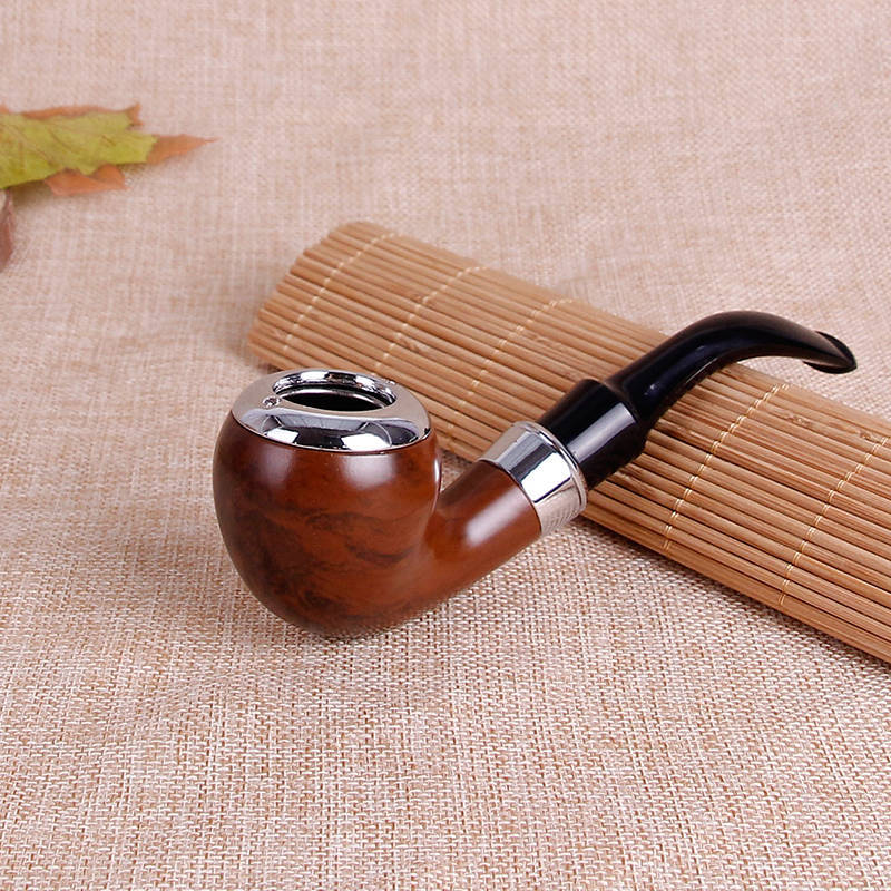 Classic Pipe Chimney Filter Wood Smoking Pipes Portable Herb Tobacco Pipe Cigar Narguile Weed Grinder Smoke Cigarette Holder