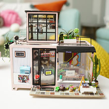 Robotime DIY Dollhouse Lol House 3D Wooden Puzzle Miniature Dollhouse Assembly Model Building Kits Toys For Children DG13(China)