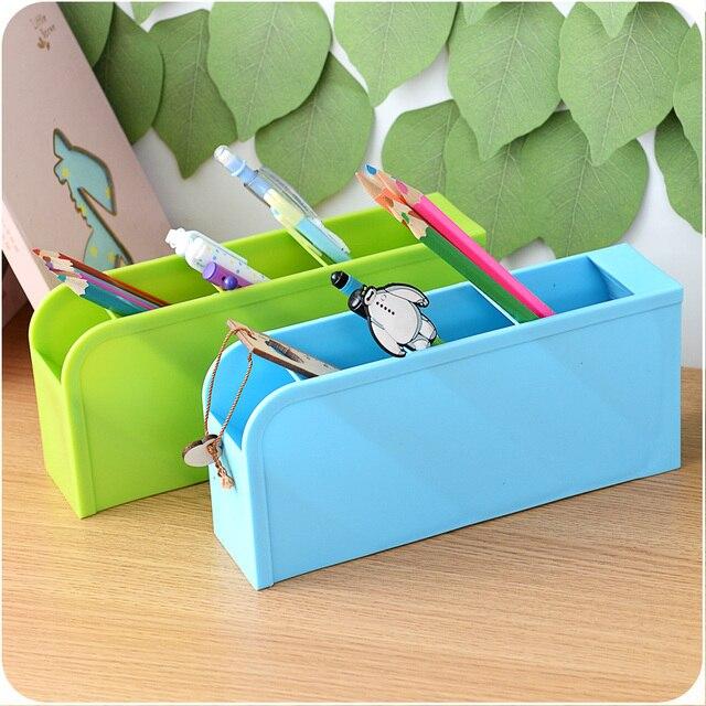 Colorful Rumah Living Ruang Saver Plastik Kotak Alat Tulis Kantor Pemegang Dapur Peralatan Makan Rak Penyimpanan