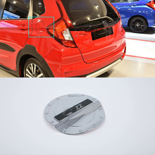 Car Accessories Exterior Decoration ABS Chrome Oil Fuel Gas Tank Cap Cover For Honda Fit Jazz 2018 Car-styling