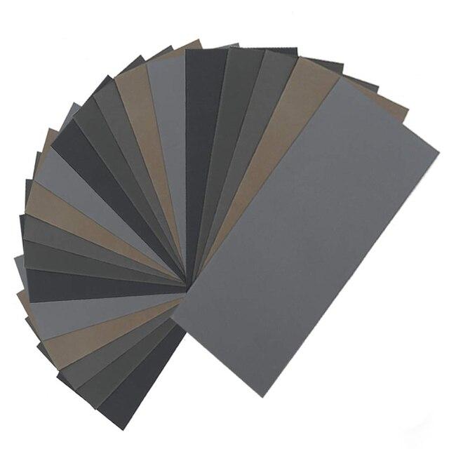 HLZS 20Pcs Wet Dry Sandpaper, High Grit 1000/2000/3000/5000/7000 Sandpaper Sheets Assortment For Wood Metal Polishing Automoti