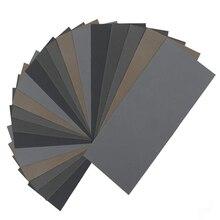 HLZS 20Pcs papier de verre sec humide, grain élevé 1000/2000/3000/5000/7000 assortiment de feuilles de papier de verre pour le polissage des métaux en bois Automoti