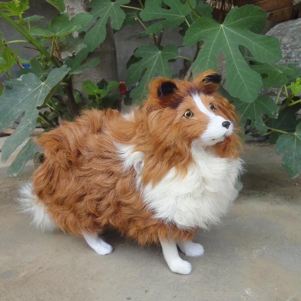 Juguete de perro de simulación grande, adorable modelo de pastor, regalo de aproximadamente 37x23x11 cm-in Peluches y muñecos de peluche from Juguetes y pasatiempos    1