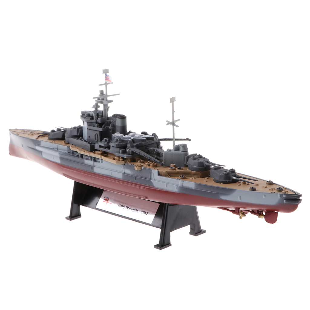 1:1000 Scale WWII HMS Warspite Diecast Destroyer Army Vehicle Ship Boat Model Toy Showcase Display trumpeter artwox 05325 warspite hms 1942 deck aw10074 wooden