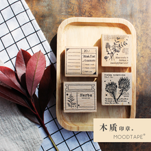 moodtape vintage wood clear stamp for DIY scrapbooking/photo album Decorative stamp rubber cotton Wish List Plant stamp seal chunky monkey transparent clear silicone stamp seal for diy scrapbooking photo album decorative card making clear stamps 4x6inch