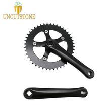цены на Fixed Gear Bike Crankset road Bicycle Crank Single  Speed 170 mm aluminum  alloy track bike Chainwheel 44T  в интернет-магазинах