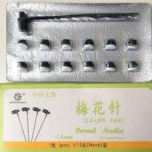 La investigación de la aguja de la piel Wo 13 cabeza de aguja desechable estéril de Siete Estrellas de la piel cambiante aguja flor del ciruelo