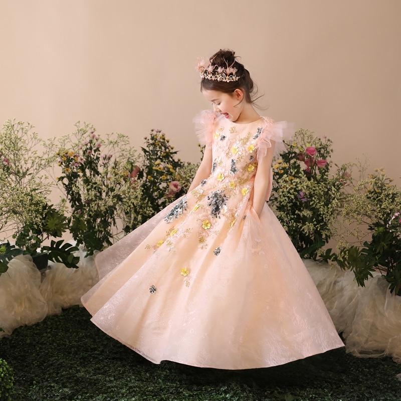 Mãe mãe filha vestidos de casamento roupas mãe e filha vestido de baile mãe meninas vestido de noite família combinando roupas - 3
