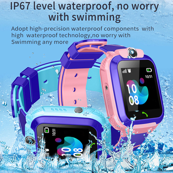 S12 Waterproof Smart Watch for Kids LBS Tracker SmartWatch SOS Call for Children Anti Lost Monitor Baby Wristwatch for Boy girls 2