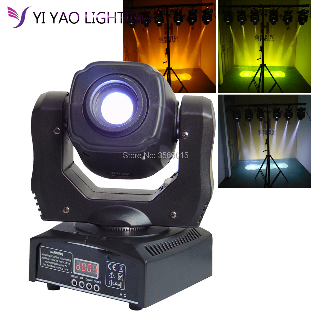 LED Gobo 60W Stage Lighting DMX512 DJ Party Eyourlife LED Inno Pocket Spot Mini Moving Head Light 60W Spot цена
