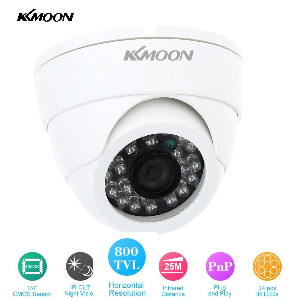 bilder für KKMOOM Hohe Qualität HD 800TVL Cctv-kamera 24 LEDS IR Farbe Überwachungskamera Infrarot 1/4 ''Überwachung Dome Mini-kamera weiß