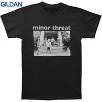 GILDAN Camisa O Pescoço Plus Size T-shirt Autêntico Minor Threat banda Salada Dias Grupo Foto T-shirt S M L Xl nova