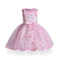 ZT1788 Spring Kids Dresses Party Dress Elegant Summer Little Girls Knee Length Princess Dress A Line Floral S Girls Dress