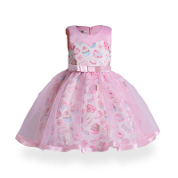ZT1788 Spring Kids Dresses Party Dress Elegant Summer Little Girls Knee Length Princess Dress A Line Floral S Girls Dress