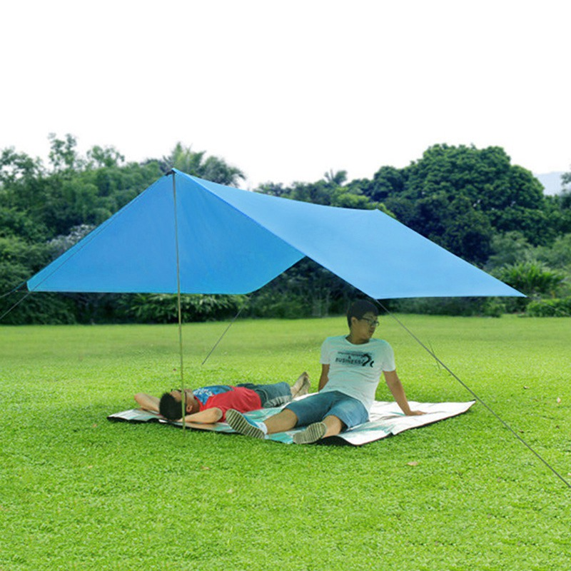 ФОТО High Quality Outdoor Anti UV Ultralight Sun Shelter Beach Tent Pergola Awning Shade Canopy Tent 190T 3-4 Person Camping Tent