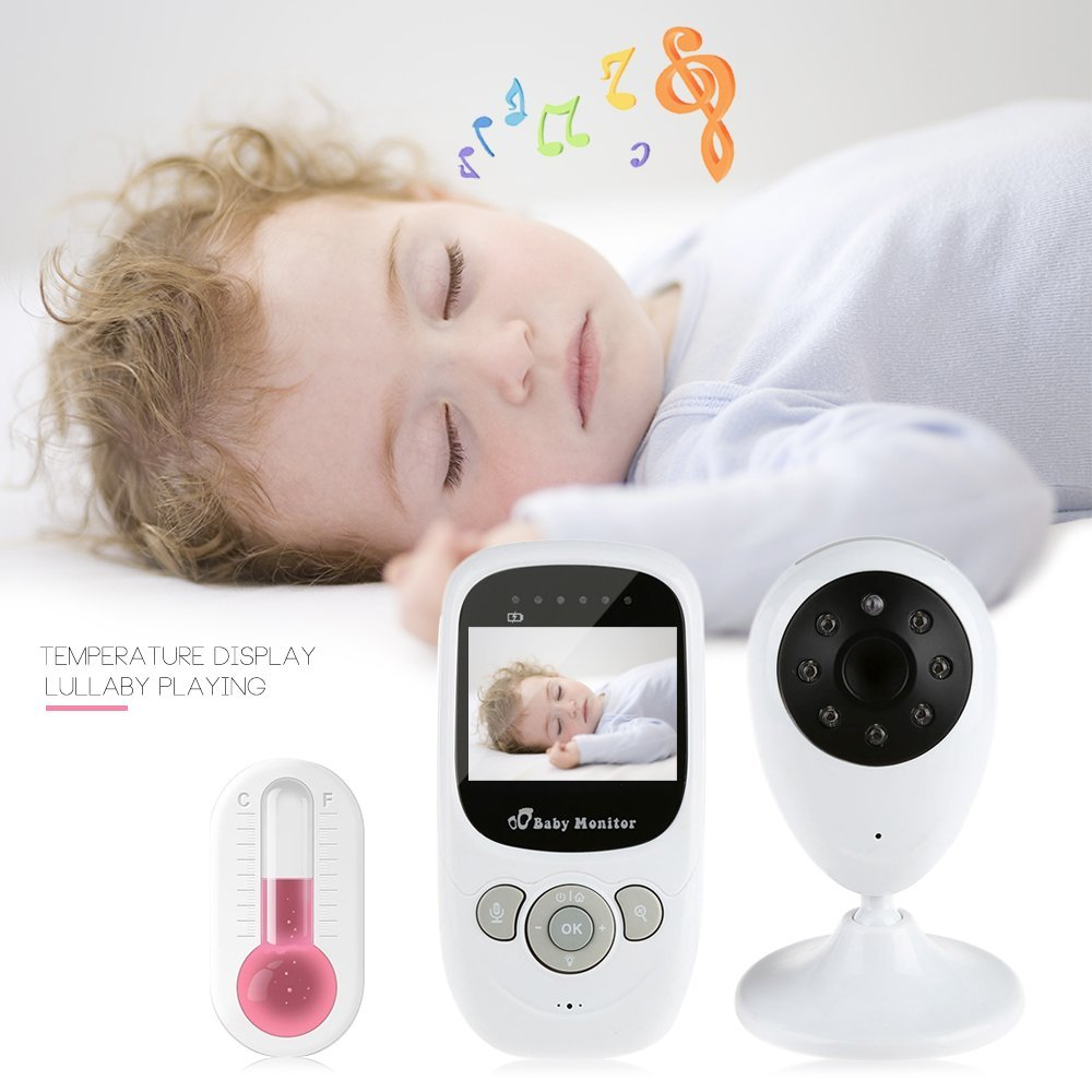 babykam vigilabebes camaras de seguridad 2.4 inch IR Night Light Vision Intercom Zoom Temperature Monitor Lullabies vigila bebes